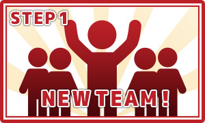 メンバーを集めてチームを結成!